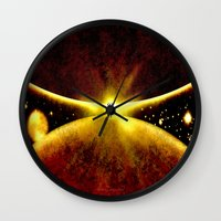 atlas Wall Clocks featuring ATLAS - 225 by Lazy Bones Studios