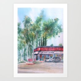 Long Beach Creamery Art Print