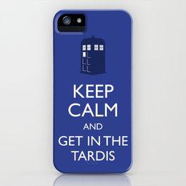 Get in the TARDIS iPhone Case