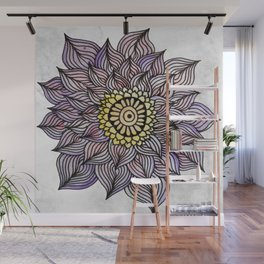 Purink Flower Wall Mural
