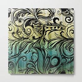 Swirl and Curl Metal Print