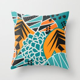 Leaf tropicana Throw Pillow