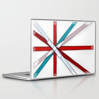 british flag Laptop & iPad Skins featuring In the Honor of a British Flag by Tata