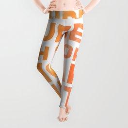 Surround Yourself Quote Red & Orange Leggings