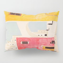 Spain Vintage Travel Poster Mid Century Minimalist Art Pillow Sham