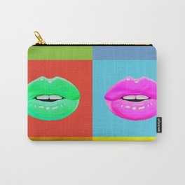Colorful lips Carry-All Pouch