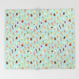 Ice cream Throw Blanket