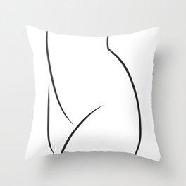 Simple Sexy Line Art Throw Pillow