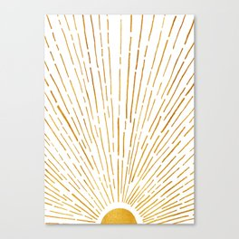 Let The Sunshine In 2 / Vertical Version Canvas Print