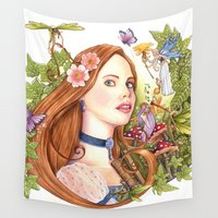 fairytale Wall Tapestries featuring Fairytale by Dibujando Hadas