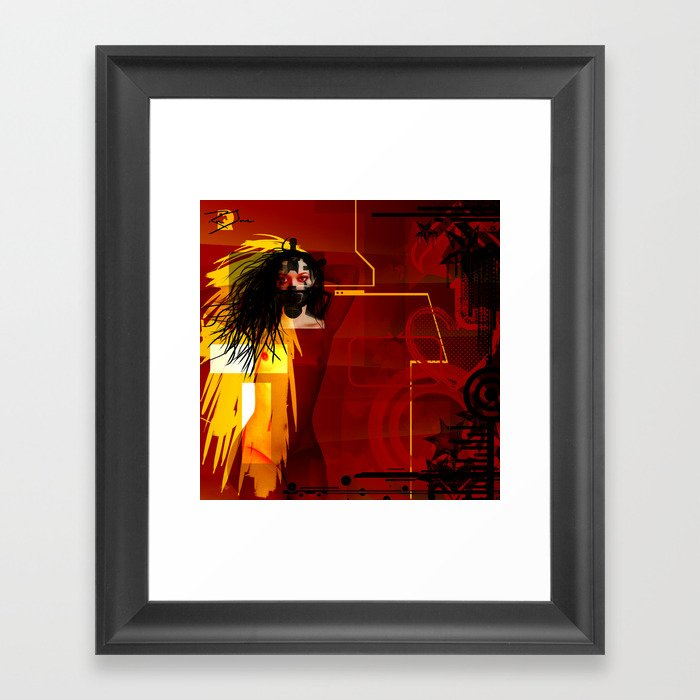 Toxic Love Candy Framed Art Print