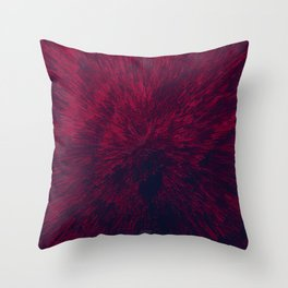 Bold Burst in Red Throw Pillow
