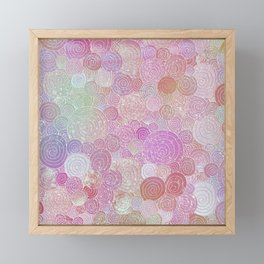 Abstract pink rosegold glamour glitter circles for ladies Framed Mini Art Print