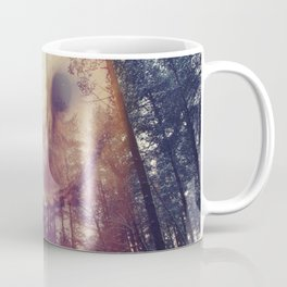 Merge owl and forest reflection Coffee Mug