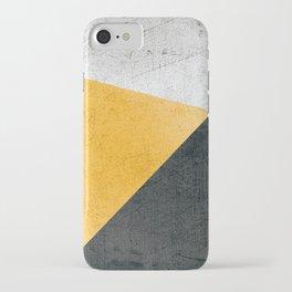 Modern Yellow & Black Geometric iPhone Case