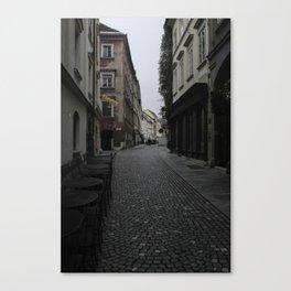 Ljublijana Back Street Canvas Print