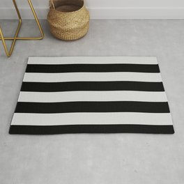 Black and Gray Vertical Stripes Rug