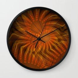 fractal: fireworks Wall Clock