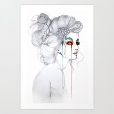 The Girl // Fashion Illustration Art Print
