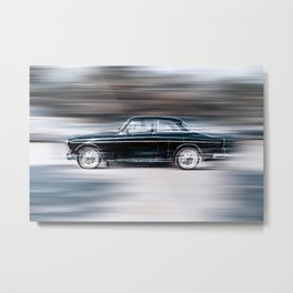 Speeding Metal Print