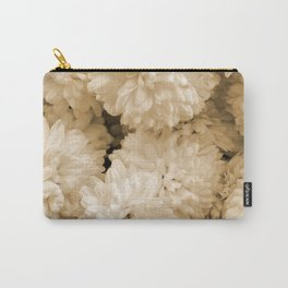 Monochrome Abstract Mums Carry-All Pouch