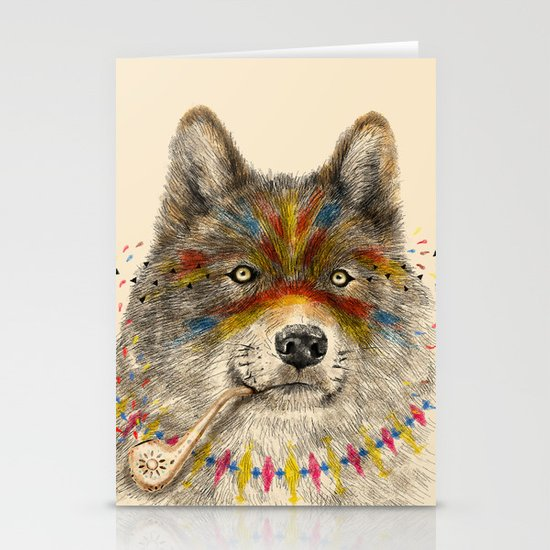 Cherokee Wolf Stationery Cards