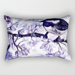 Chickadee In Spring Time Rectangular Pillow
