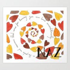 Naz Art Print