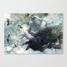 Thought and Memory Canvas Print