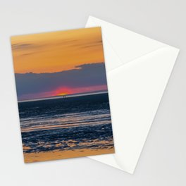 Orange and Navy Sunset, Chapin Beach Stationery Cards