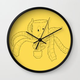 Crinkled Cephalopod Wall Clock