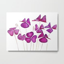 purple clover leaves Metal Print