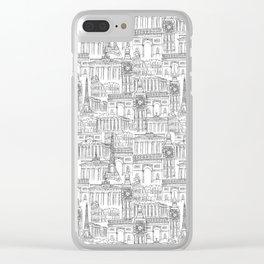 EUROPE LANDMARK PATTERN Clear iPhone Case
