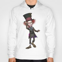 mad hatter Hoodies featuring Mad Hatter by apgme