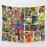 posters Wall Tapestries featuring Vintage Sci-Fi Movie Posters  |  Collage by Silvio Ledbetter