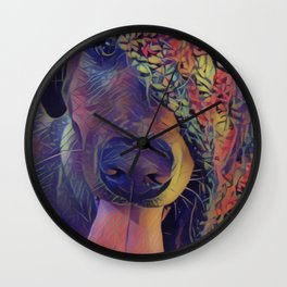 Labrador Crazy I Wall Clock