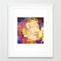 oscar wilde Framed Art Prints featuring Oscar Wilde by Ganech joe