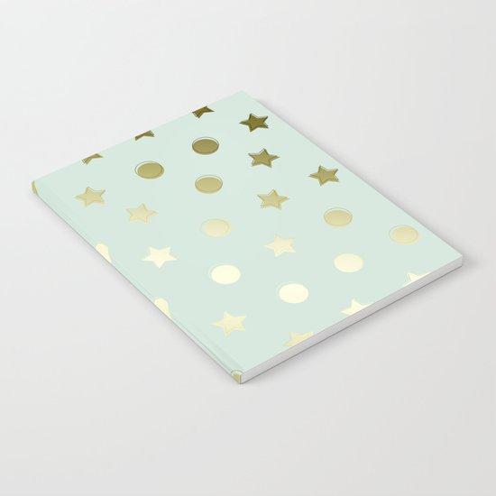 Gold Confetti Notebook