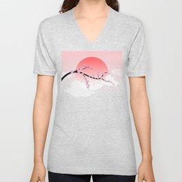 Cherry Blossoms - Pink Unisex V-Neck