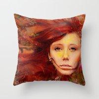 irish Throw Pillows featuring Irish fairy by Joe Ganech