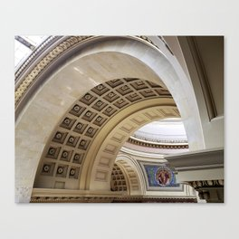 Wisconsin Capitol Building Arches And Angles Canvas Print