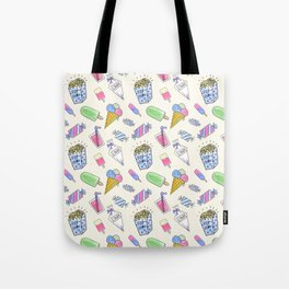 Popart candy and ice-cream Tote Bag
