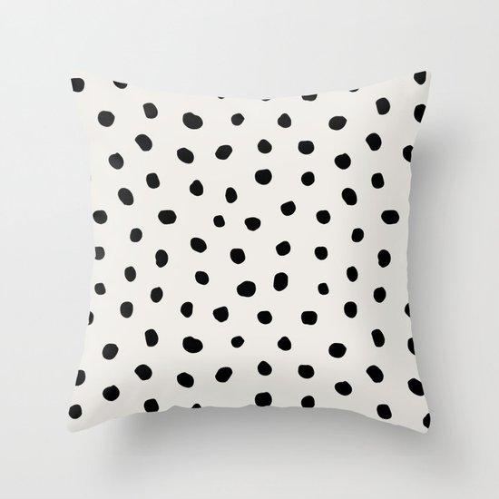 Modern Polka Dots Black on Light Gray by followmeinstead