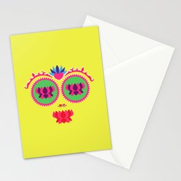 Indian face Stationery Cards