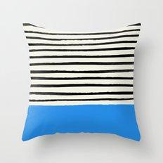 Ocean x Stripes Throw Pillow