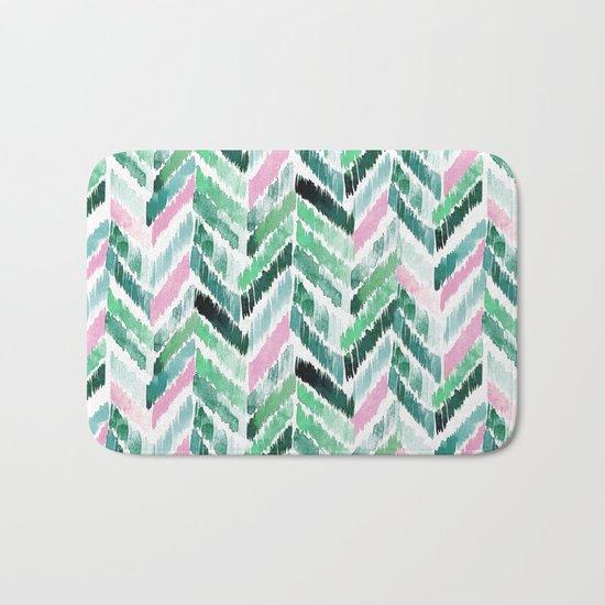 Tropical Vibrations - Emerald Pink Bath Mat