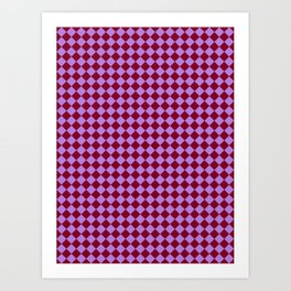 Lavender Violet and Burgundy Red Diamonds Art Print