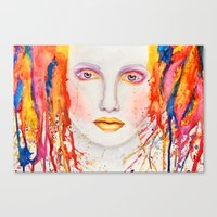 splatter Canvas Prints featuring Splatter by Funkygirl4ever95