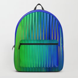 trendy abstract in blue, green and gold Backpack