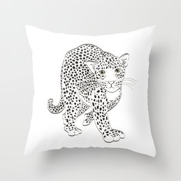 The Creeping Leopard Throw Pillow